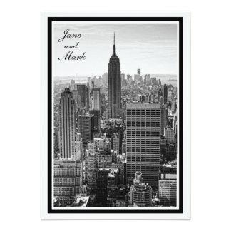 "NYC Skyline Empire State Building, WTC BW Invite 5"" X 7"" Invitation Card"