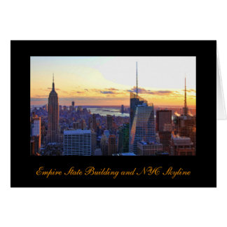 NYC Skyline: ESB, Bank of America, 4 Times Sq 001 Card