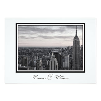NYC Skyline ESB Blk & Wht Sunset  Wedding Invite