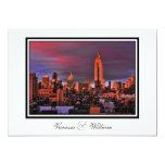 NYC Skyline ESB Surreal Sunset  Wedding Invite 13 Cm X 18 Cm Invitation Card