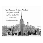 NYC Skyline ESB Top o the Rock Etch Save Date 2