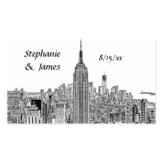 NYC Skyline ESB Top of the Rock Etch Escort Cards Pack Of Standard Business Cards