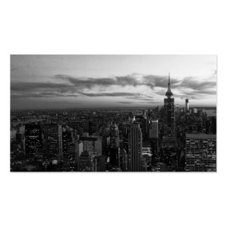 NYC Skyline, ESB WTC at Sunset BW Double-Sided Standard Business Cards (Pack Of 100)