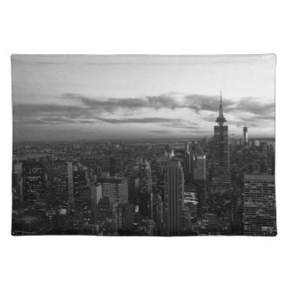 NYC Skyline, ESB WTC at Sunset BW Placemat