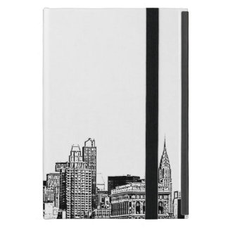 NYC Skyline Etched 01 Cover For iPad Mini