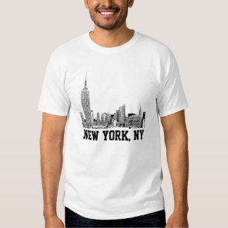 NYC Skyline Etched 01 Shirts