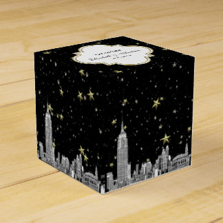 NYC Skyline Etched Starry DIY BG Color Favour Box