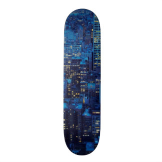 NYC Skyline, high angle view at dusk 18.1 Cm Old School Skateboard Deck