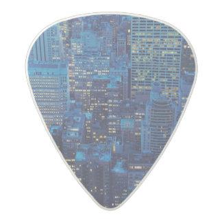 NYC Skyline, high angle view at dusk Acetal Guitar Pick