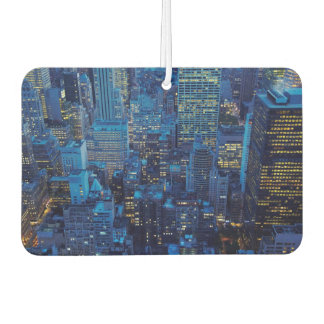 NYC Skyline, high angle view at dusk Car Air Freshener
