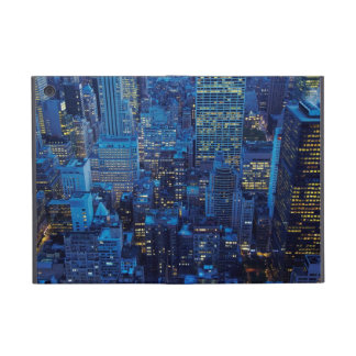 NYC Skyline, high angle view at dusk Cases For iPad Mini