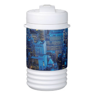 NYC Skyline, high angle view at dusk Drinks Cooler