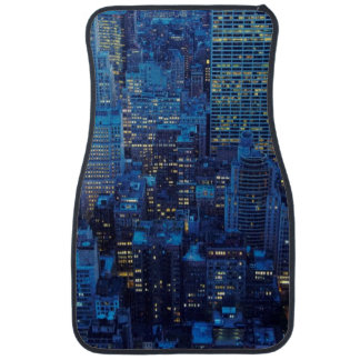 NYC Skyline, high angle view at dusk Floor Mat