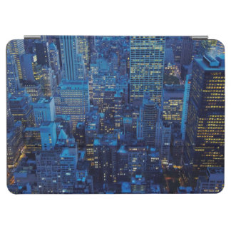 NYC Skyline, high angle view at dusk iPad Air Cover