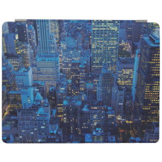 NYC Skyline, high angle view at dusk iPad Cover