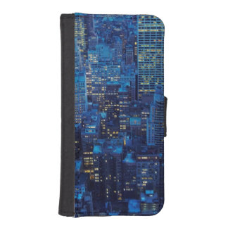 NYC Skyline, high angle view at dusk iPhone SE/5/5s Wallet Case