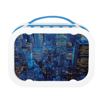 NYC Skyline, high angle view at dusk Lunch Box