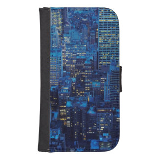 NYC Skyline, high angle view at dusk Samsung S4 Wallet Case