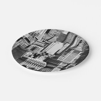 NYC Skyline IX Paper Plate