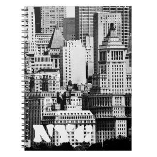 NYC Skyline IX Spiral Notebook