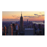 NYC Skyline just before sunset Pack Of Standard Business Cards