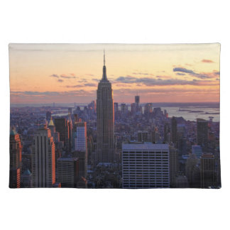 NYC Skyline just before sunset Place Mats