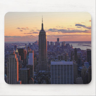 NYC Skyline just before sunset Mouse Mat