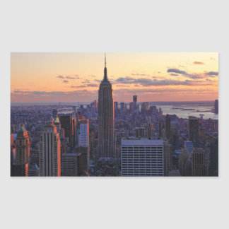 NYC Skyline just before sunset Rectangular Sticker