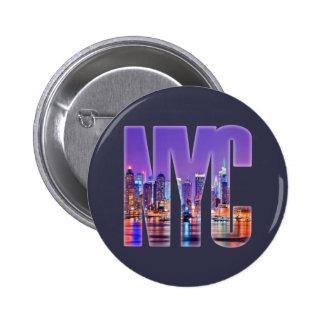NYC Skyline (Light) 6 Cm Round Badge