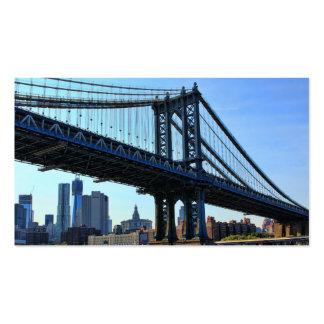 NYC Skyline Manhattan Bridge 3 Business Cards