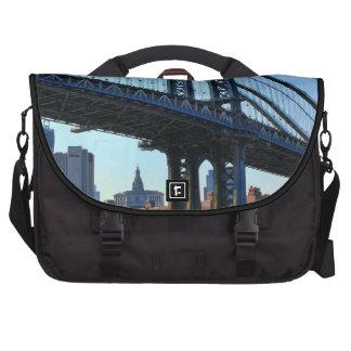 NYC Skyline: Manhattan Bridge #3 Laptop Computer Bag
