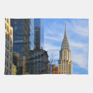 NYC Skyline: Midtown View of the Chrysler Building Towels