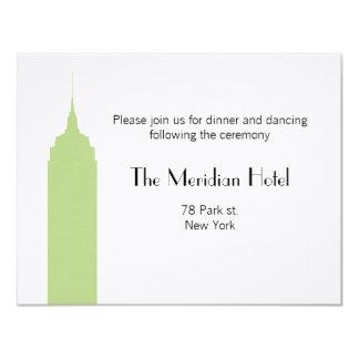 NYC Skyline Recption Card - Empire State Building 11 Cm X 14 Cm Invitation Card