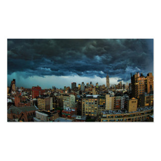 NYC Skyline: Scary massive derecho storm cloud Business Card