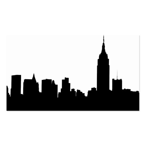 NYC Skyline Silhouette, Empire State Bldg #1 Business Cards