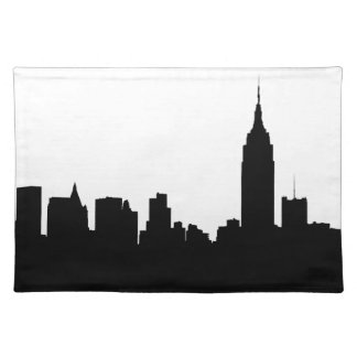 NYC Skyline Silhouette, Empire State Bldg #1 Placemat