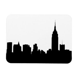 NYC Skyline Silhouette, Empire State Bldg #1 Rectangular Photo Magnet