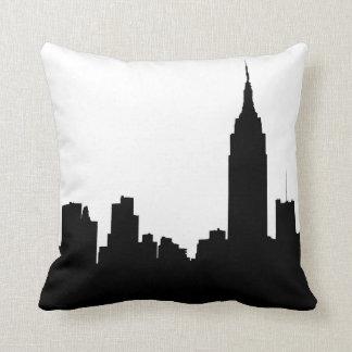 NYC Skyline Silhouette, Empire State Bldg #1 Throw Pillow