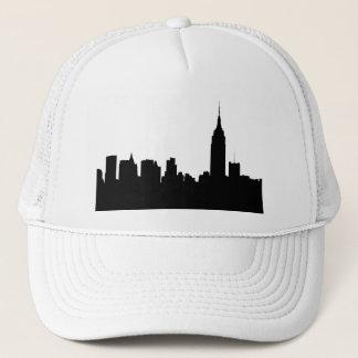 NYC Skyline Silhouette, Empire State Bldg #1 Trucker Hat