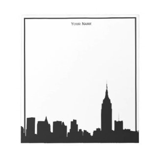 NYC Skyline Silhouette Framed Notepad
