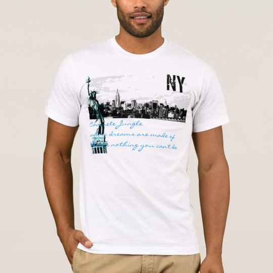 nyc skyline, statue of liberty, Concrete Jungle T-Shirt