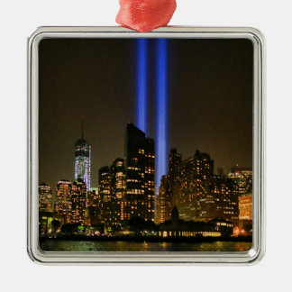 NYC Skyline: WTC  9/11 Tribute In Light 2013 #1 Christmas Ornament