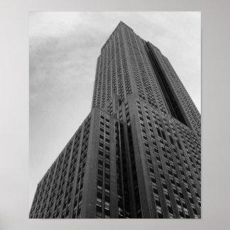 NYC Skyscraper Black And White Photograph Poster