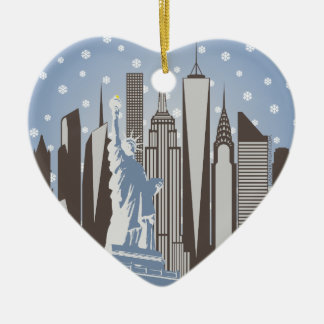 NYC Snowflakes Christmas Ornament