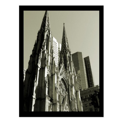 NYC St. Patrick's Cathedral Postcard