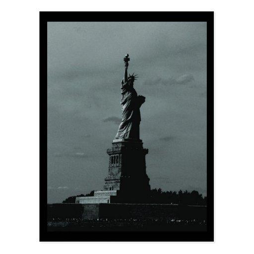 NYC Statue of Liberty B&W Postcards