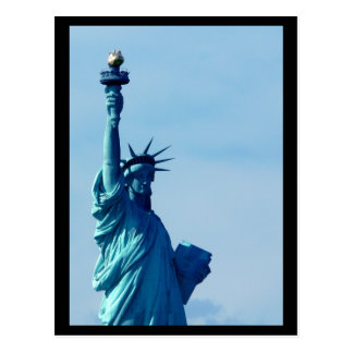 NYC Statue of Liberty Blue Postcard