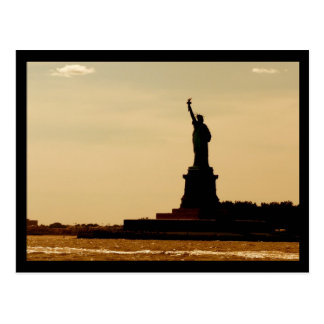 NYC Statue of Liberty Dusk Postcard