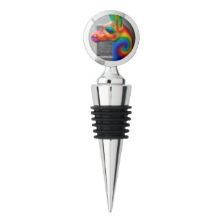 NYC Street Photography - Rainbow Animal Statue Wine Stopper