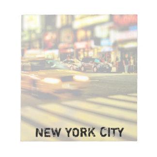 NYC Taxi Abstract Notepad